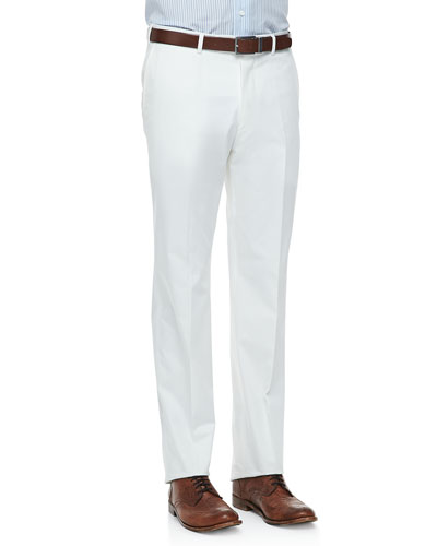 Five-Pocket Trousers, White