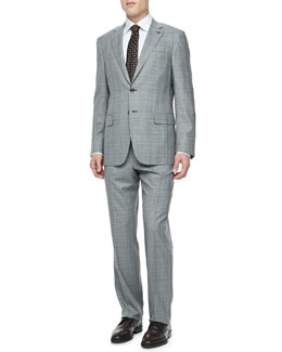 Isaia Plaid Two-Piece Suit
