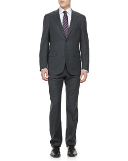 Isaia Two-Button Jacket, Gray Box Check