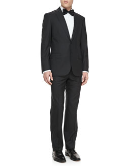 Brioni Textured Two-Button Jacket, Black