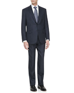 Brioni Two-Piece Striped Wool Handmade Suit