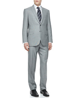Brioni Fine Houndstooth Two-Piece Suit, Black/White