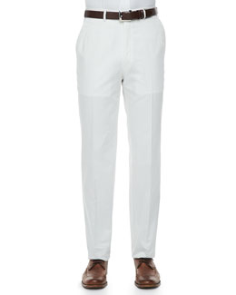Brioni Lightweight Cotton Pants, White