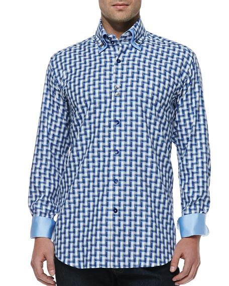 Yunus 85 Zigzag-Print Shirt