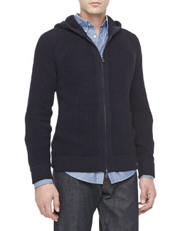 Vince Coastal Thermal Hoodie, Navy