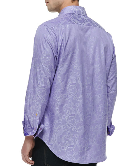 Lost and Found Jacquard Shirt, Purple