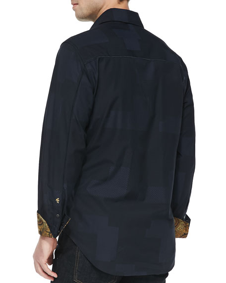 Herschel Jacquard Button-Down Sport Shirt