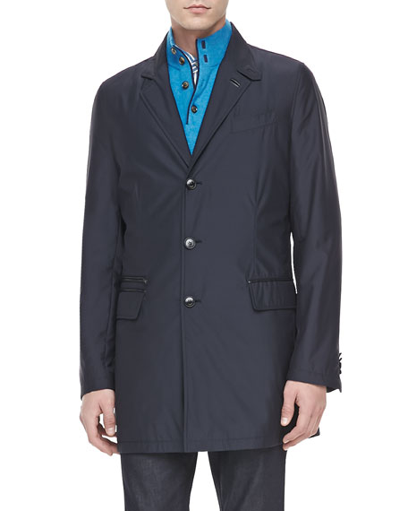 Three-Quarter Length Jacket, Navy