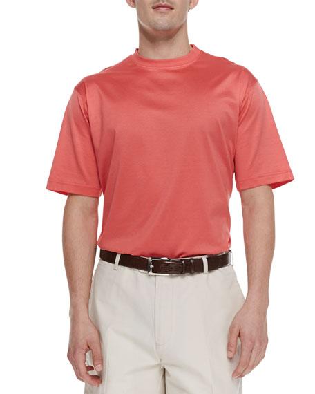Short-Sleeve Jersey Tee, Pink