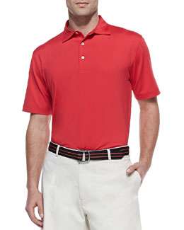 Peter Millar Performance E4 Solid Polo, Red