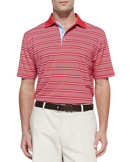 Staley Stripe E4 Polo, Red