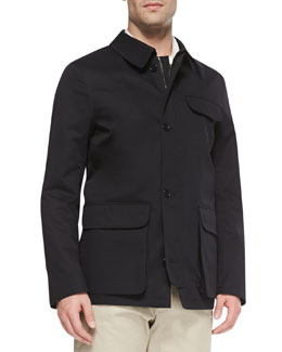 Neiman Marcus Tech Garden Jacket, Navy
