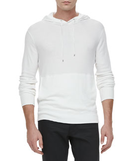 Ralph Lauren Black Label Waffle-Knit Hoodie, White