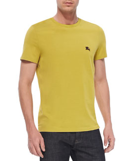Burberry Brit Equestrian Knight Crewneck Tee, Yellow
