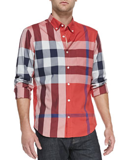 Burberry Brit Exploded Check Shirt, Red