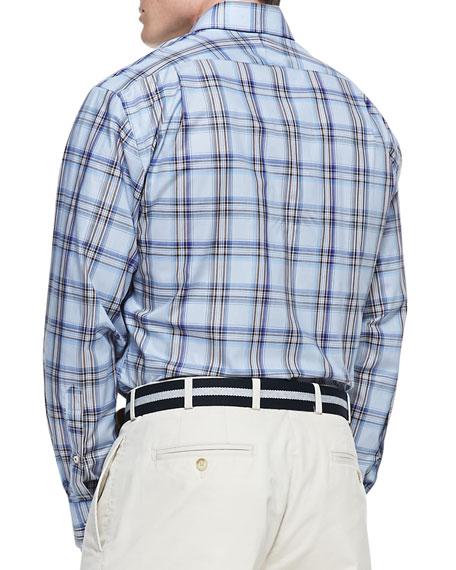 Amalfi Plaid Sport Shirt, Blue