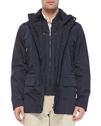 Hydro-Compact 3-in-1 Jacket, Navy