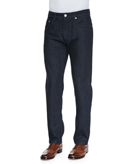 Brioni Dark Scanno B Logo Pocket Jeans