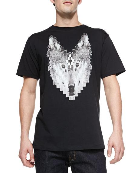 Wolf-Print Crewneck Tee