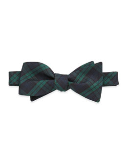 Neiman Marcus Tartan Plaid Bow Tie, Green