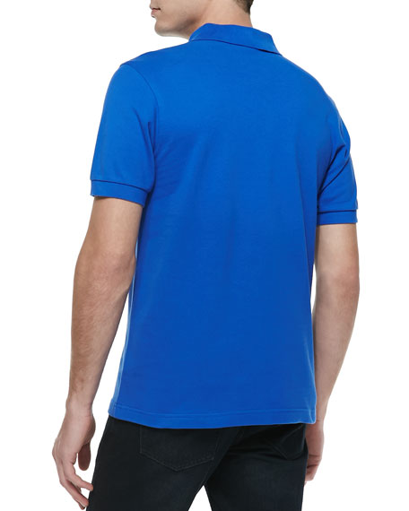 Solid Short-Sleeve Polo Shirt, Regal Blue