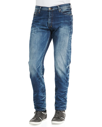 PRPS Barracuda Whiskered Jeans, Medium Blue
