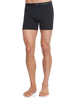 "Frigo Cotton Stretch 3"" Trunks, Black"