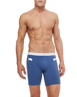 "Frigo Modal/Cotton 6"" Trunks, Blue"