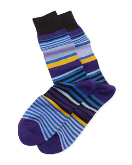 Paul Smith Jester Striped Socks, Navy