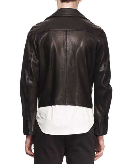 Gibson Clean Leather Moto Jacket, Black
