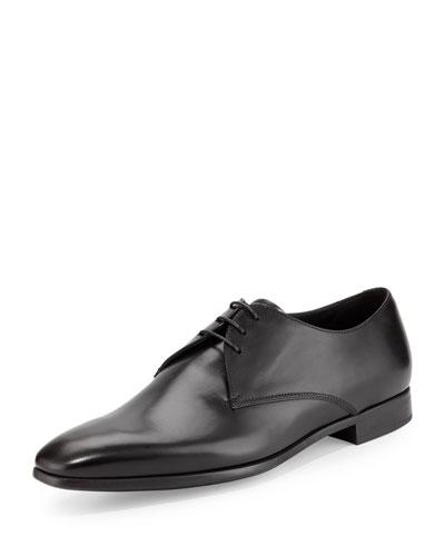 Giorgio Armani Leather Lace-Up Dress Shoes, Black