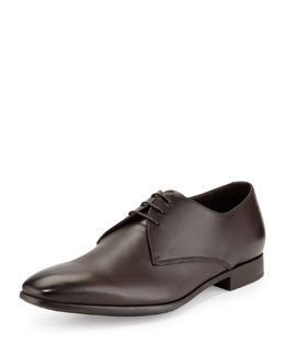 Giorgio Armani Leather Lace-Up Dress Shoes, Brown
