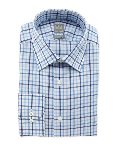 Box-Check Dress Shirt, Blue/White