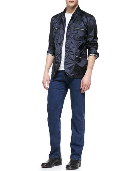 Blue Washed Denim Jeans