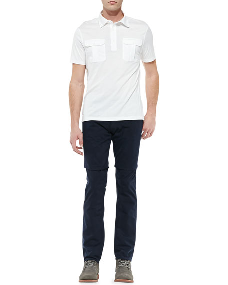 Lightweight 5-Pocket Pants, Navy