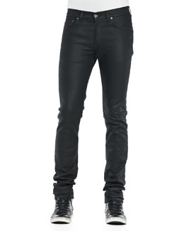 Acne Studios Ace Mamba Coated Jeans, Black