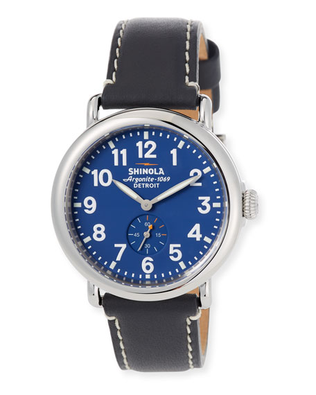 Shinola 41mm Runwell Watch, Midnight Blue/Black