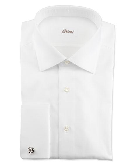 Ribbed French-Cuff Dress Shirt