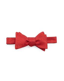 Neiman Marcus Paisley-Jacquard Bow Tie