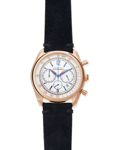 Orefici Watches Vintage 42mm Chronograph Watch, Rose Gold
