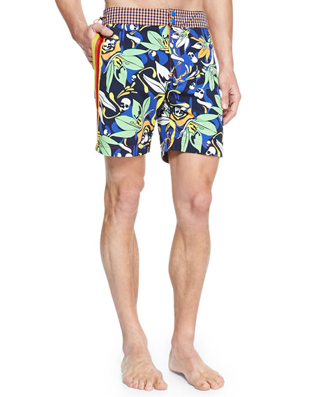 Alphyn Multi-Print Swim Trunks