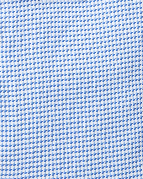 Textured Woven Dress Shirt, Blue