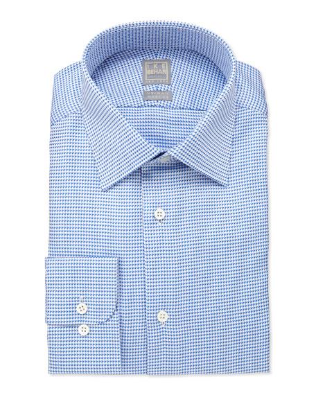 Textured Woven Dress Shirt, Blue