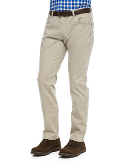 Ermenegildo Zegna Two-Tone Stretch-Denim Jeans, Brown