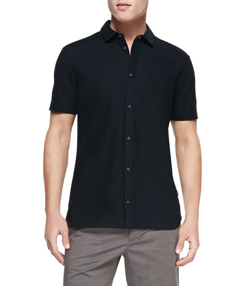 Boss Hugo Boss Short-Sleeve Button-Down Shirt, Black