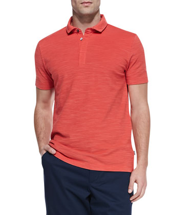 Flame Pique Polo Shirt, Red