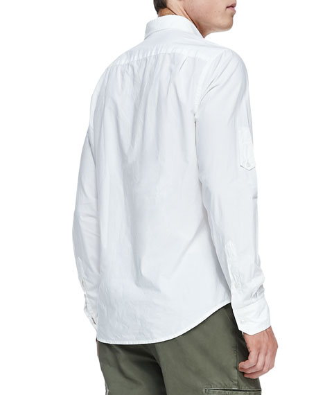 3-Pocket Woven Shirt, White