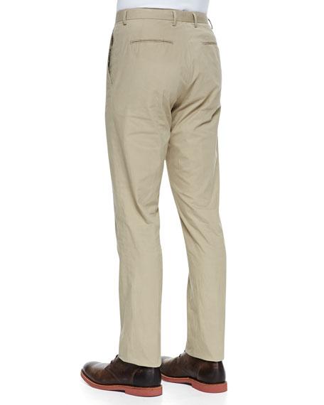 Flat-Front Suit Pants, Camel