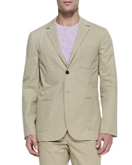 Vince Two-Button Suit Jacket, Camel