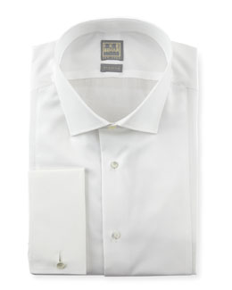 Ike Behar Textured Bib Tuxedo Shirt, White